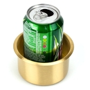Brybelly Jumbo Brass Drop-In Cup Holder