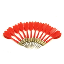 Brybelly 12 Pack Red Metal Tip Brass Balloon Darts