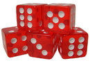 Brybelly 100 Red Dice - 16 mm