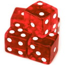 Brybelly 5 Red Dice - 16 mm