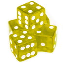 Brybelly 5 Yellow Dice - 16 mm