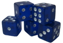 Brybelly 100 Blue Dice - 16 mm