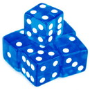 Brybelly 5 Blue Dice - 16 mm