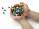 Brybelly 100+ Pack of Random D4 Polyhedral Dice in Multiple Colors