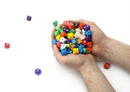 Brybelly 100+ Pack of Random D10 (00) Dice in Multiple Colors