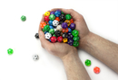 Brybelly 100+ Pack of Random D12 Polyhedral Dice in Multiple Color