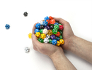 Brybelly 100+ Pack of Random D20 Polyhedral Dice in Multiple Color