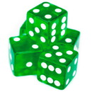 Brybelly 5 Green Dice - 19 mm