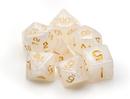Brybelly 7 Die Polyhedral Dice Set in Velvet Pouch-Forbidden Treasure
