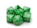 Brybelly 7 Die Polyhedral Dice Set in Velvet Pouch - Imperial Gem