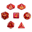 Brybelly 7 Die Polyhedral Set in Velvet Pouch, Philosopher's Stone