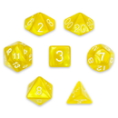 Brybelly 7 Die Polyhedral Set in Velvet Pouch, King's Ransom