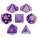 Brybelly 7 Die Polyhedral Set in Velvet Pouch, Lucid Dreams