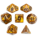 Brybelly 7 Die Polyhedral Set in Velvet Pouch, Mountainheart