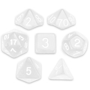 Brybelly 7 Die Polyhedral Set in Velvet Pouch, Astral Echoes