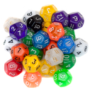 Brybelly 25 Pack of Random D12 Polyhedral Dice in Multiple Colors
