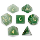 Brybelly Set of 7 Handmade Stone Polyhedral Dice, Aventurine