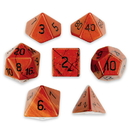 Brybelly Set of 7 Handmade Stone Polyhedral Dice, Red Jasper