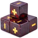 Brybelly Handmade Stone Fudge Dice, Poppy Jasper, 4-pack