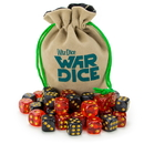 Brybelly Set of 40 12mm War Dice, Blood & Oil