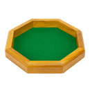 Brybelly 12 in Wooden Octagonal Dice Tray