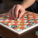 Brybelly Ludo & Snakes & Ladders 2-in-1 Wooden Board Game