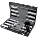 Brybelly 15in Backgammon Set with Stitched Black Leatherette Case
