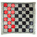 Brybelly 3 in 1 Jumbo Checker Rug Game