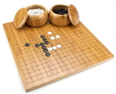 Brybelly Bamboo Go Set with Reversible Board, Bowls, Stones