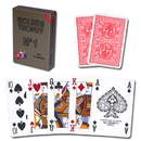 Brybelly Modiano Golden Trophy Poker Playing Cards - Red