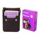 Brybelly Purple Modiano Cristallo, Poker Size, 4 PIP w/ Leather Case