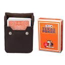 Brybelly Orange Modiano Texas, Poker-Jumbo Cards w/ Leather Case