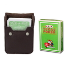 Brybelly Lt Green Modiano Texas, Poker-Jumbo Cards w/ Leather Case