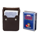 Brybelly Blue Modiano Texas, Poker-Jumbo Cards w/ Leather Case