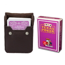 Brybelly Purple Modiano Texas, Poker-Jumbo Cards w/ Leather Case