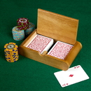 Brybelly 2 Deck (Poker and Bridge Size) Wooden Card Box