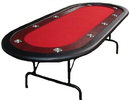 Brybelly Red Felt Poker Table With Dark Wooden Race Track 84