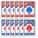 Brybelly 12 Bicycle Poker Size Standard Index - Red/Blue