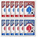 Brybelly 12 Bicycle Poker Size Jumbo Index -Red/Blue