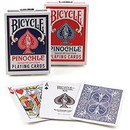 Brybelly Bicycle Pinochle, Standard Index, 6 Decks Red/Blue