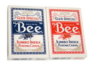 Brybelly Bee No. 77 Diamond Back Club Special Red/Blue Decks - Jumbo