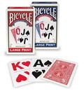 Brybelly Bicycle Bridge, Large Print, 12 Decks Red/Blue