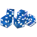 Brybelly (5) New Blue 19mm Grd A Precision Dice w/Matching Serial #s
