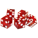 Brybelly (5) New Red 19mm Grd A Precision Dice w/Matching Serial #s