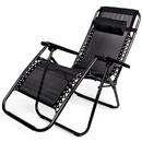 Brybelly Zero Gravity Folding Lounge Chair, Black