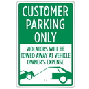 Brybelly Customer Parking Only Sign 18