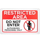 Brybelly Restricted Area - Do Not Enter Sign 18
