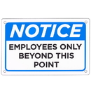 Brybelly Employees Only Sign 18
