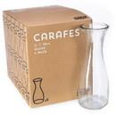 Brybelly 34 oz. (1 Liter) Glass Beverage Carafe, 6-pack