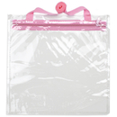 Brybelly 12'' x 12'' Clear Hand Bag with Pink Shoulder Strap